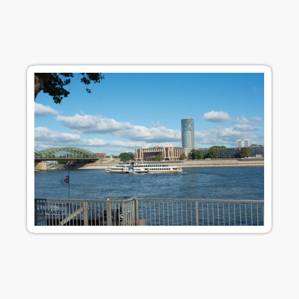 The Rhine River at Koln Sticker