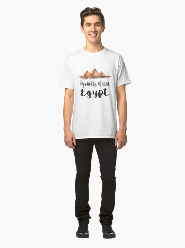Alternate view of Pyramids of Giza watercolor Classic T-Shirt