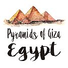 Pyramids of Giza watercolor by creativelolo