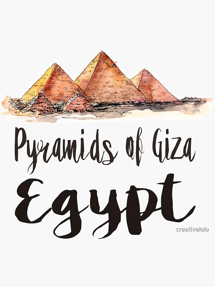 Pyramids of Giza watercolor by creativelolo
