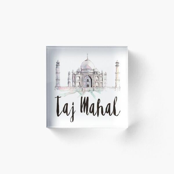 Taj Mahal Acrylic Block