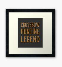 Crossbow Hunting Legend Framed Print
