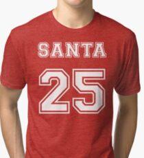 Merry Christmas Santa Claus 25 Tri-blend T-Shirt