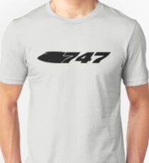 Boeing 747 Jumbo Black Unisex T-Shirt
