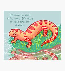 """It's Okay to Take Time For Yourself"" Salamander Photographic Print"