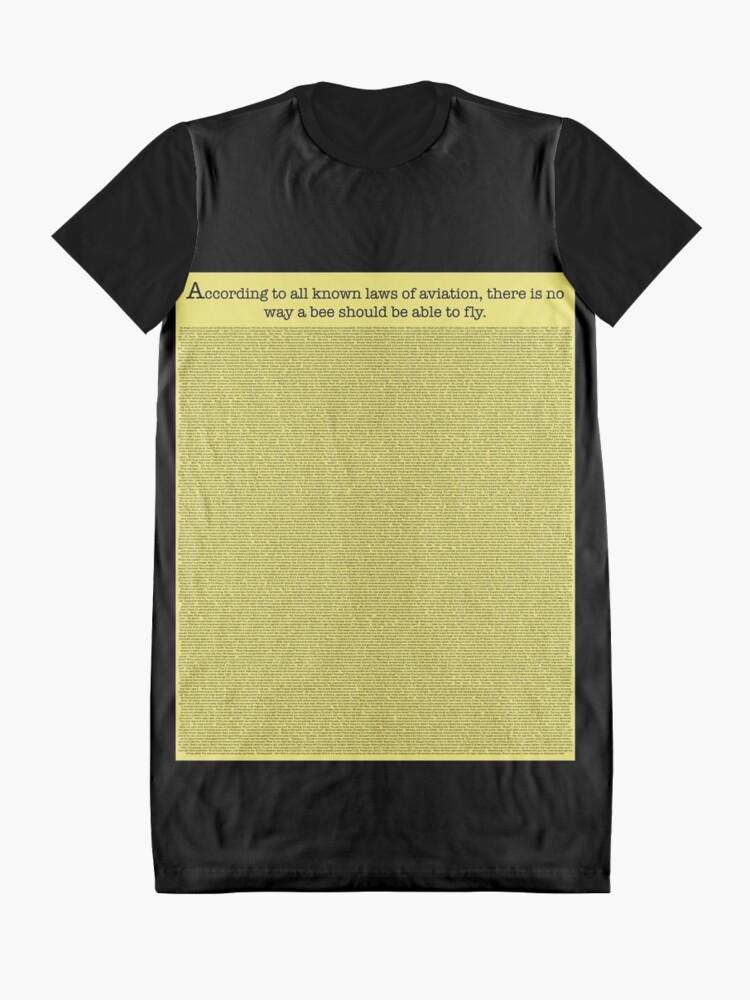 Alternative Ansicht von Das ganze Bienen-Film-Skript T-Shirt Kleid
