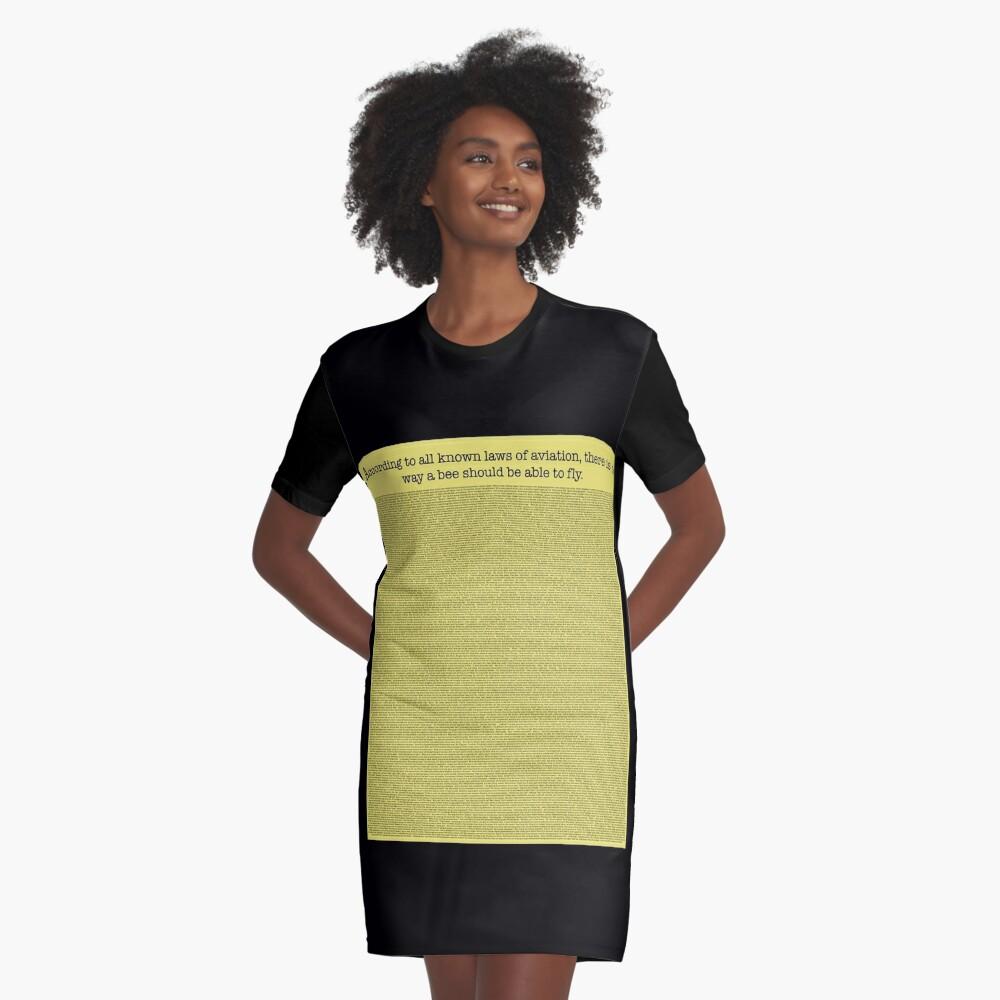 Das ganze Bienen-Film-Skript T-Shirt Kleid
