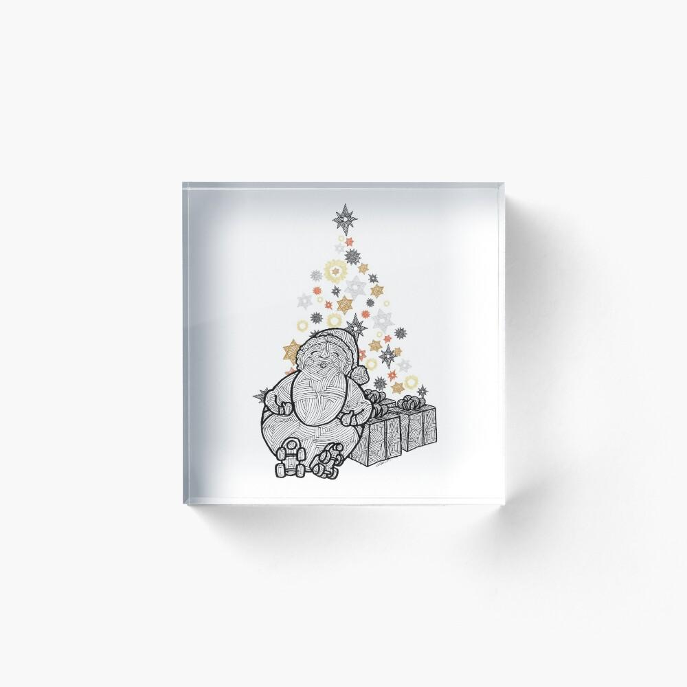 Roll Santa Acrylic Block