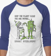 Robot Earth Men's Baseball ¾ T-Shirt