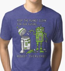 Robot Earth Tri-blend T-Shirt