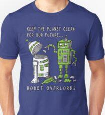 Roboter Erde Slim Fit T-Shirt