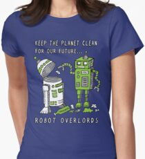 Robot Earth Women's Fitted T-Shirt