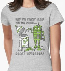 Robot Earth Womens Fitted T-Shirt