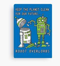 Robot Earth Canvas Print