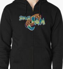 Space Jam Logo Design Zipped Hoodie