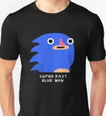 Super fast blue man (white text) T-Shirt
