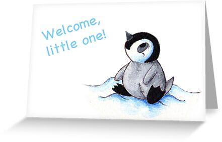 Little Winter Fluffball (Welcome Baby Card) by KOKeefeArt