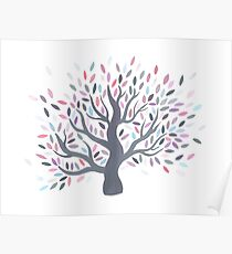 Multicolored tree of spring Poster