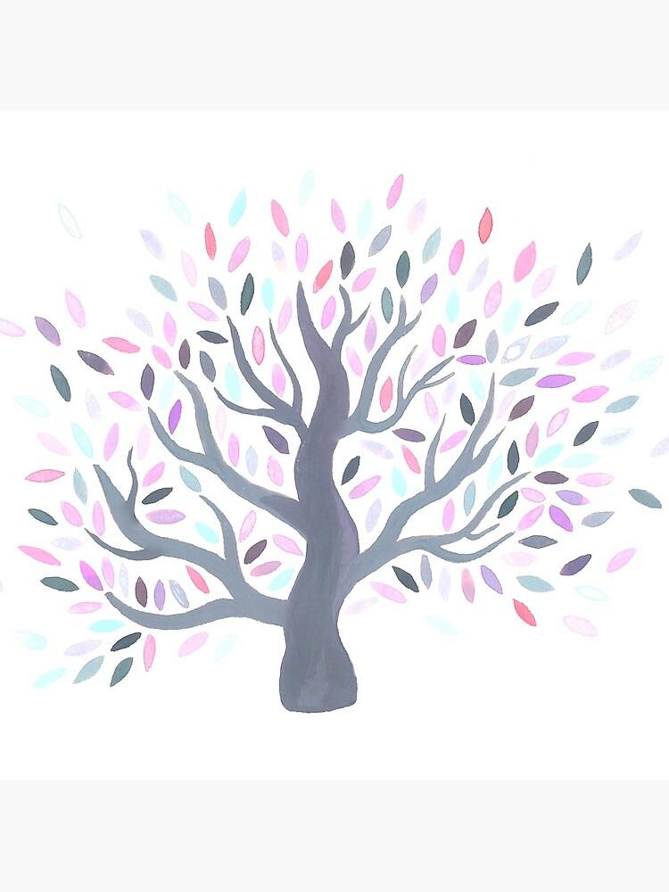 Multicolored tree of spring by mirunasfia