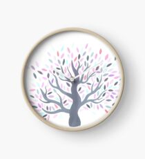 Multicolored tree of spring Clock