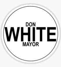 VOTE WHITE 2 Sticker