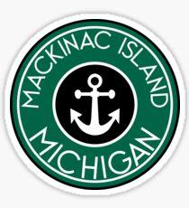 MACKINAC ISLAND MICHIGAN ANCHOR NAUTICAL LAKE HURON GREAT LAKES VINTAGE Sticker