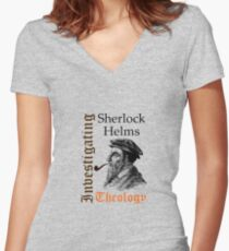 Investigating Theology Women's Fitted V-Neck T-Shirt