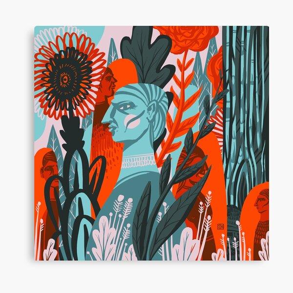 Messy Jungle Canvas Print