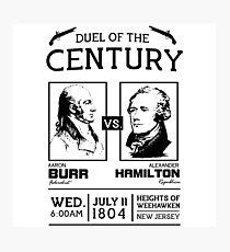 Burr-Hamilton Duel Matchup Photographic Print