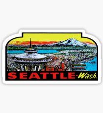Pegatina Calcomanía de viaje de Seattle Space Needle Vintage