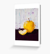 Shimmering Yellow Apple Greeting Card
