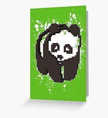 3D PIXEL - PANDA Greeting Card