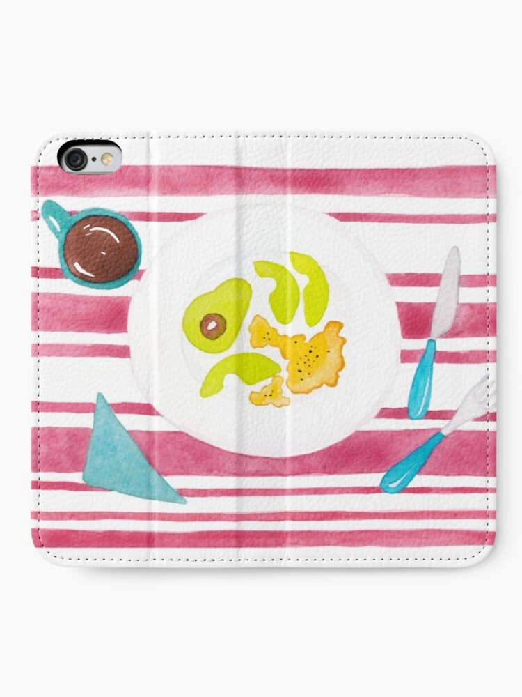Alternate view of Eggs and avocado breakfast iPhone Wallet