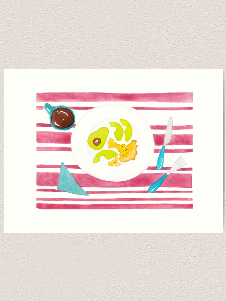 Alternate view of Eggs and avocado breakfast Art Print