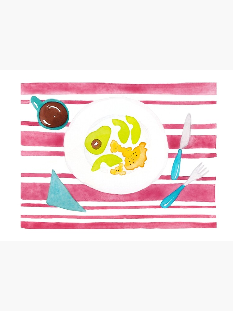 Eggs and avocado breakfast by mirunasfia