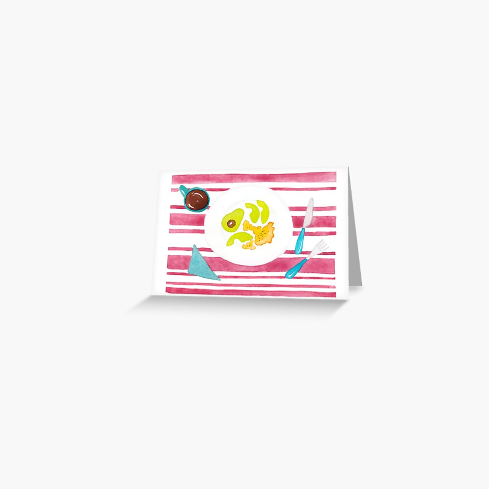 Eggs and avocado breakfast Greeting Card
