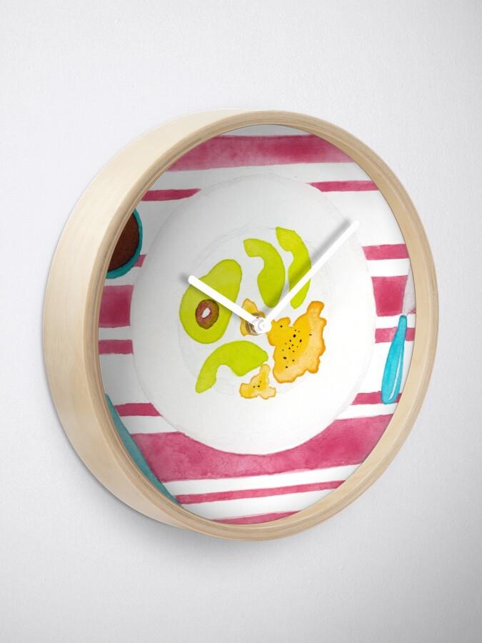 Alternate view of Eggs and avocado breakfast Clock