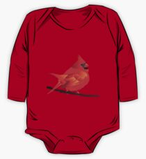 Orange Red Cartoon Bird in White Background One Piece - Long Sleeve