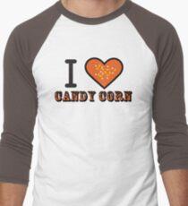 I Heart Candy Corn ( Black Text Clothing & Stickers ) Men's Baseball ¾ T-Shirt