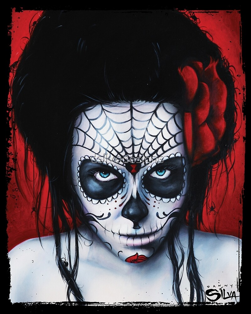 Widow - Day of The Dead Painting by Danny Silva by dsilvadesigns