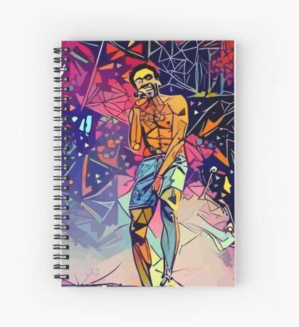 Gambino Abstract  Spiral Notebook