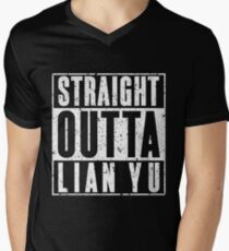 Straight Outta Lian Yu Mens V-Neck T-Shirt