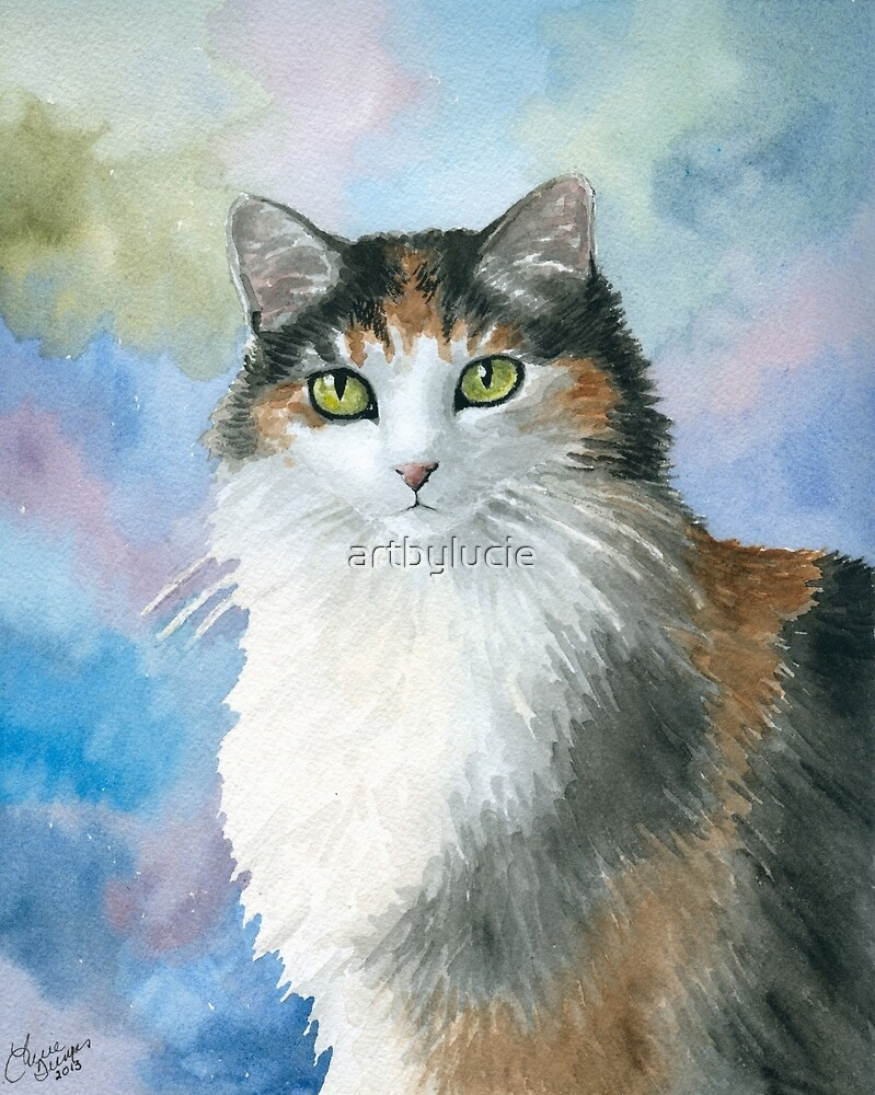 Cat 572 Calico by artbylucie