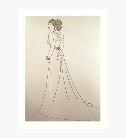 Wedding Dress No 4 Art Print