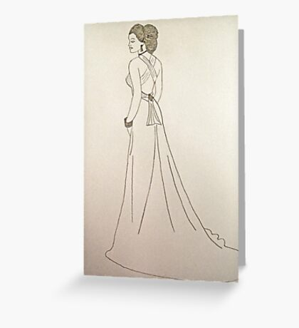 Wedding Dress No 4 Greeting Card