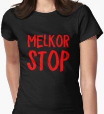 Melkor Stop Womens Fitted T-Shirt
