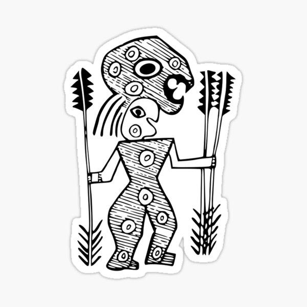 Tribal Warrior Sticker