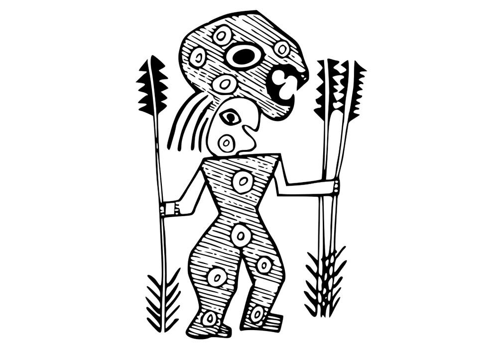 Tribal Warrior by Bright Designs