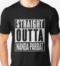 Straight Outta Nanda Parbat Slim Fit T-Shirt