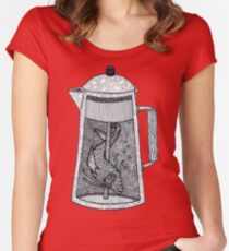 There was a fish in the percolator Women's Fitted Scoop T-Shirt